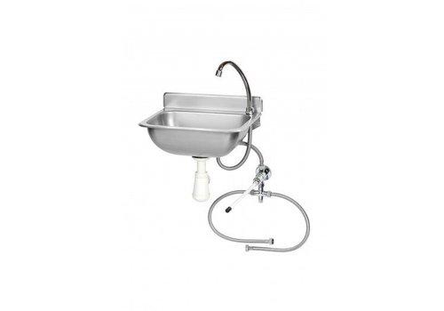 Saro Stainless steel hand basin | Knee operation