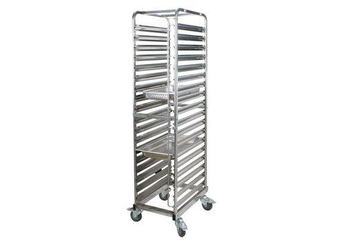 Saro Trolley voor 18 x 1/1 GN bakken | 53 x 32,5 cm