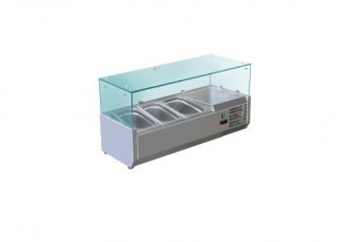 Saro Set up refrigerator display case 3 x 1/3 GN
