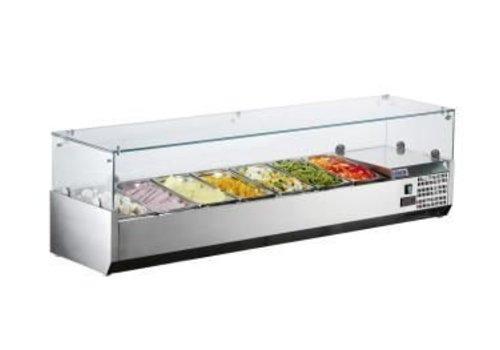 Saro Set-up refrigerator display 7x 1/4 GN