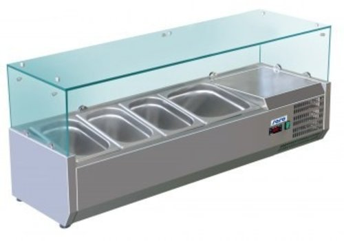 Saro Set up refrigerated display case 3 x 1/3 + 1 x 1/2 GN