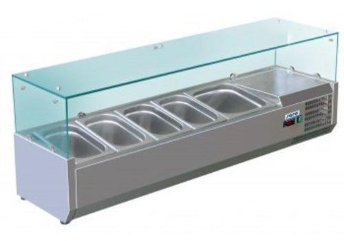 Saro Set up refrigerator display unit 4x 1/3 + 1x 1/2 GN