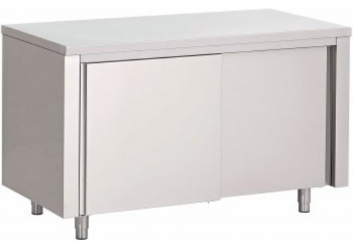 Saro Horeca Werkkast met Dubbele Schuifdeuren | 100x70x(H)85cm