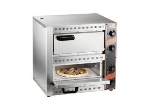 Saro Professionelle Pizza-Ofen 2 x 2500 Watt | 2 Pizzen