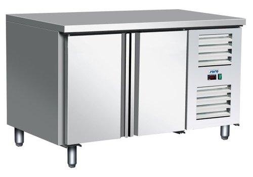 Saro Kühltisch Edelstahl | 136 x 70 x 89/95 cm