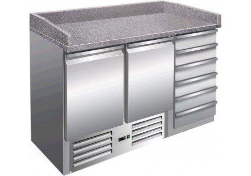 Saro Pizza Workbench 2 Türen und Schubladen