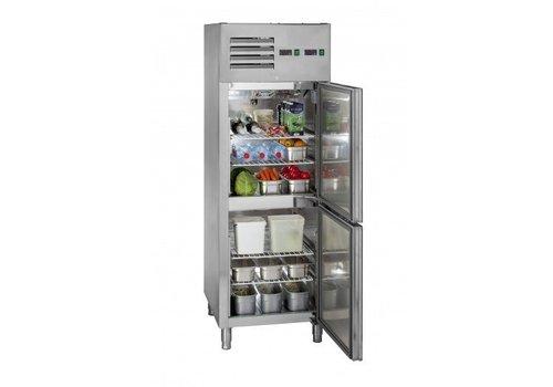 Saro Professional fridge-freezer Stainless steel   Self-closing door   68x83x201 cm