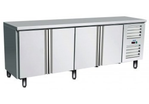 Saro Cooling Table Stainless Steel 4 Doors | 223 x 70 x 89/95 cm