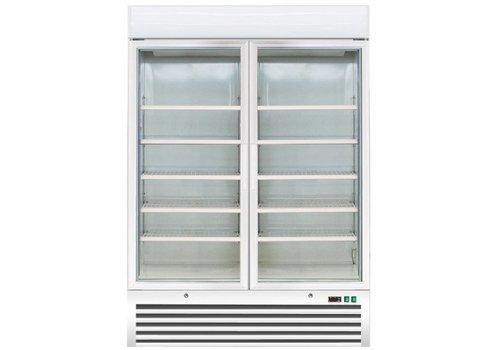 Saro Catering Freezers Weiß mit 2 Glastüren