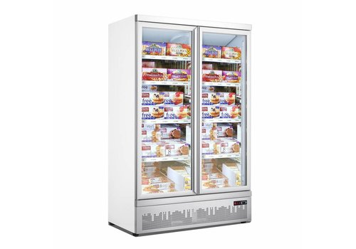 Combisteel Freezer cabinet 2 Glass doors 1000L
