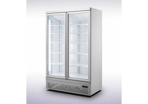 Combisteel Wall fridge 2 Glass doors 1000L