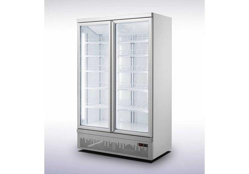 Combisteel Wandkühlschrank 2 Glastüren 1000L