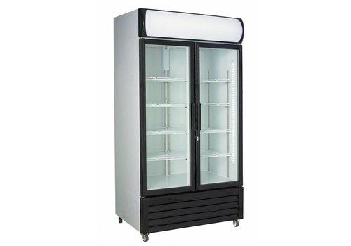 Combisteel Fridge 2 Glass doors 670L