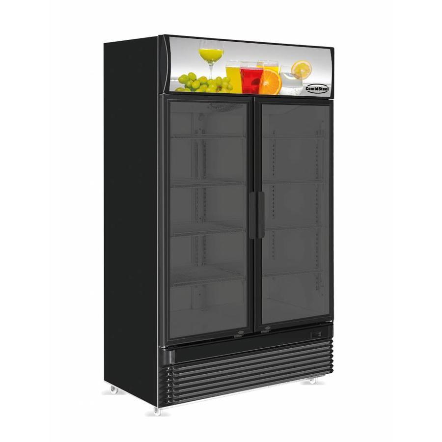 Fridge Black 2 Glass Doors 780 L Horecatraders Buy Online