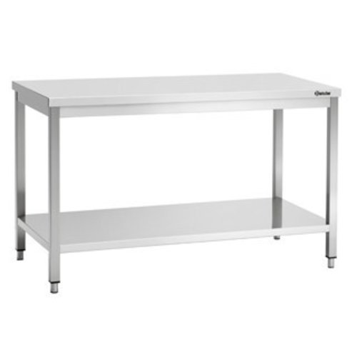 Removable stainless steel work table standard
