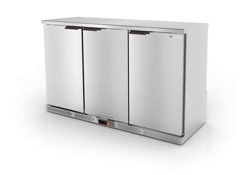 Coreco Backbar erzwungener Kühlschrank Edelstahl | 3 Türen