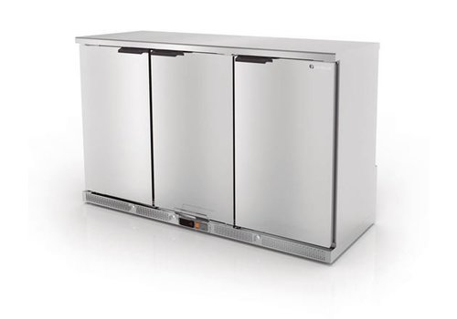 Coreco Backbar forced refrigerator Stainless steel | 3 Doors