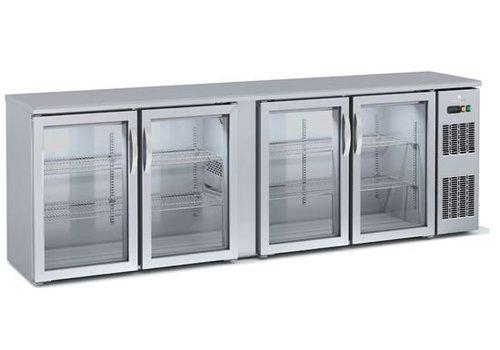 Coreco Backbar koelkast | Glas | 4 Deurs