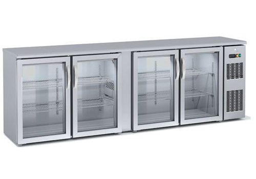 Coreco Backbar Kühlschrank | Glas 4 Türen
