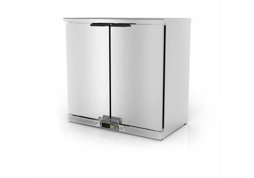Coreco Backbar erzwungener Kühlschrank Edelstahl | 2 Türen