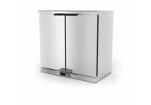 Coreco Backbar forced refrigerator Stainless steel | 2 Doors