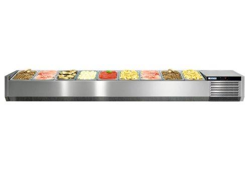 Afinox Showcase mit offenem Rahmen für 12x 1/3 GN-Behälter