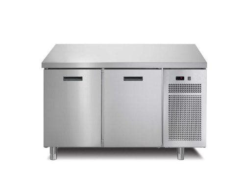 Afinox Kühlwerkbank   2 Türen   Mit Arbeitsblatt