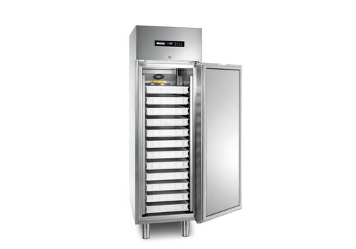 Afinox Statischer industrieller Kühlschrank Grün 400 TN S PIZZA | MEK402