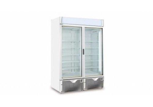 Framec Koelkast | 2 Glazen Deuren | 1047L