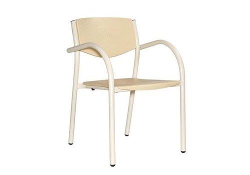 HorecaTraders Stapelbaar terrasstoel beige (8 stuks)