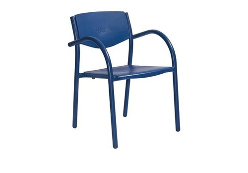 HorecaTraders Stapelbarer Liegestuhl blau (8 Stück)