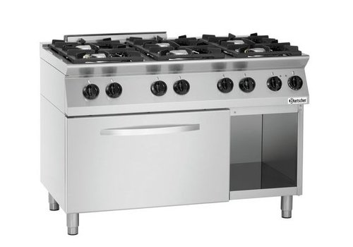 Bartscher Gas stove with electric oven | 6 Burners