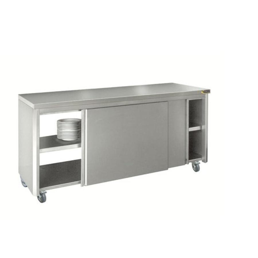 Catraders Wall Cabinet With Sliding Doors Stainless Steel 220x70cm