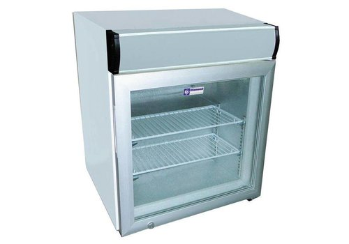Diamond Tabletop Freezer with glass door 55 liters