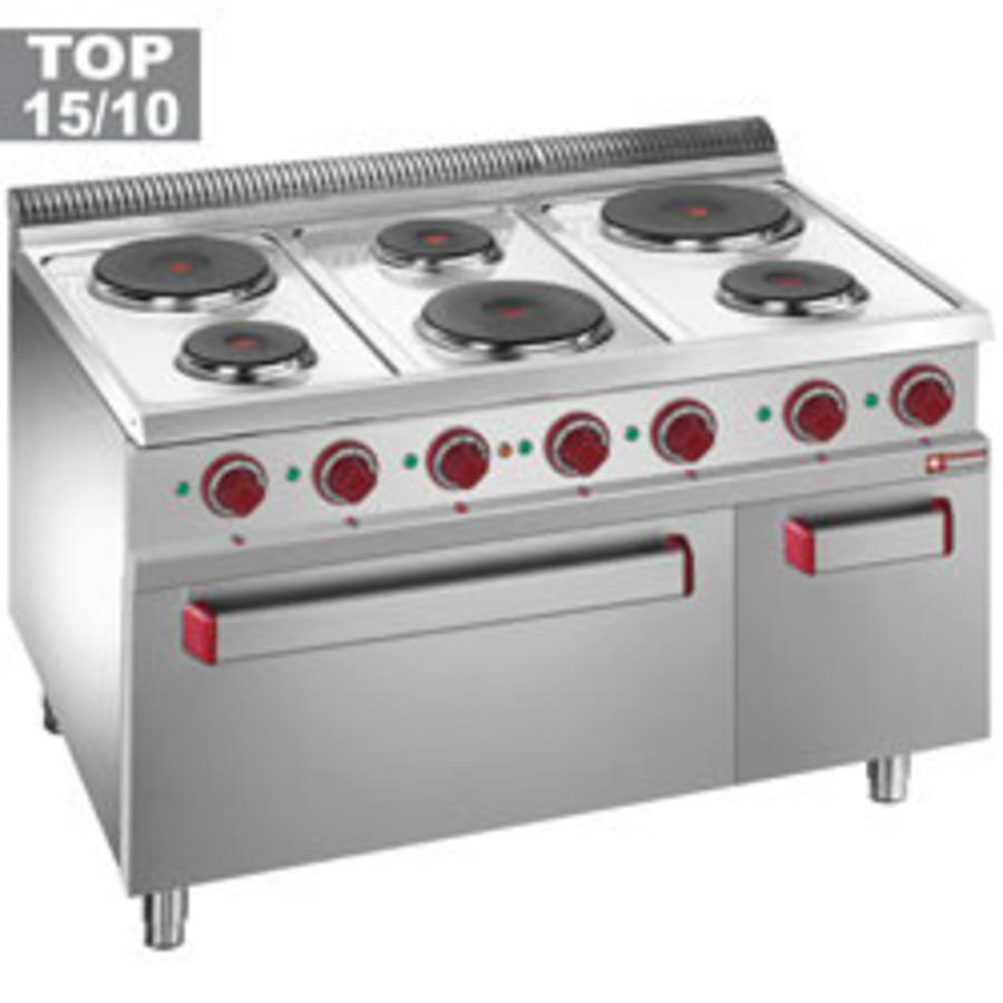 Diamond Electric Stove With 6 Hobs And