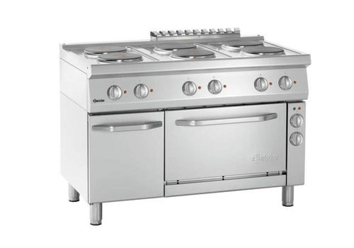Bartscher Electric stove with 6 hobs and electric oven 1/1 GN