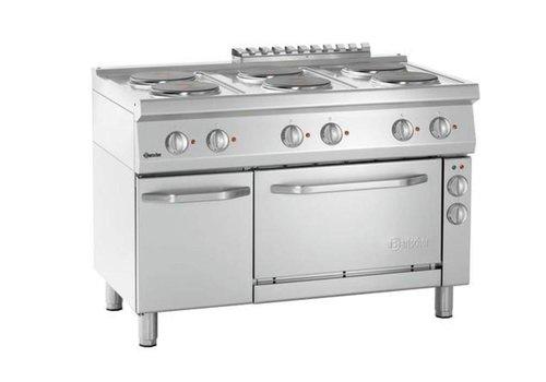 Bartscher Elektrisch fornuis met 6 kookplaten en elektrische oven 1/1 GN