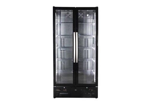 HorecaTraders Bar-Kühler mit 2 Glastüren