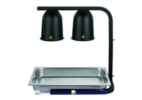 HorecaTraders Warmhoudlamp 0,5 (2x 0,25) kW