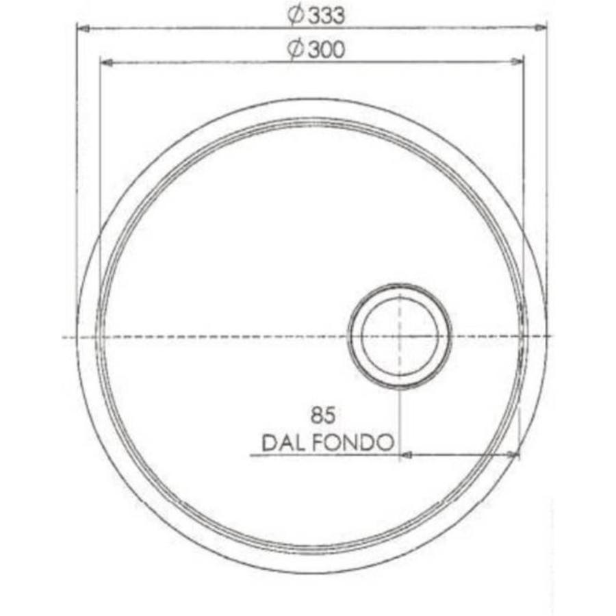 RVS Spoelbakken Rond | Inbouw | 30 x 18 cm