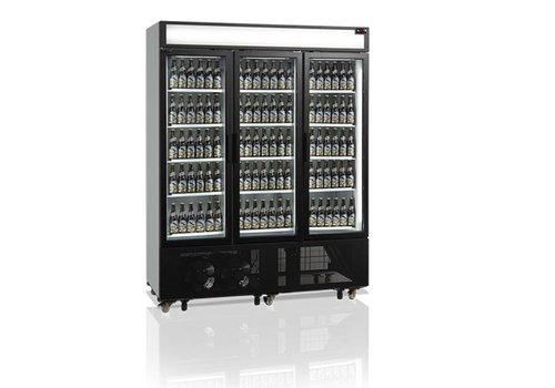 Tefcold Flaschenkühlschrank mit 3 Türen Glas 1329 Liter