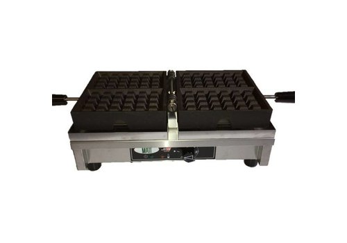 Enkel wafelijzer | 4x6 Brusselse wafels | 440x260x150 mm