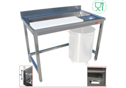 Diamond RVS Vis Verwerkingstafel/Vlees Verwerkingstafel