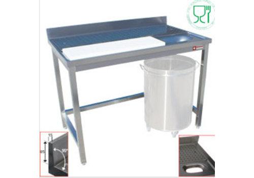 Diamond Edelstahl-Fisch-Verarbeitungs-Tabelle / Fleisch-Verarbeitungs-Tabelle