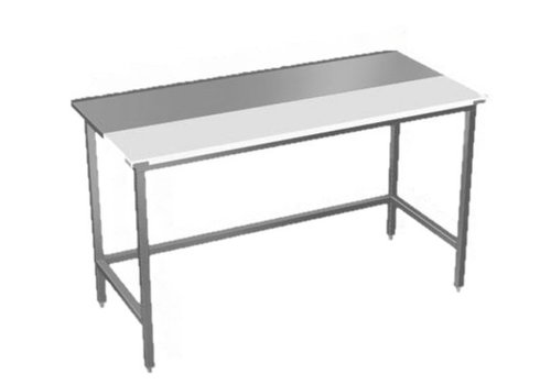 Sofinor Stainless steel work table with cutting blade