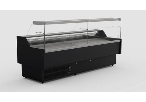 Combisteel Cooling counter Black Oscar 2.0 | 200 x 82.5 x 123 cm