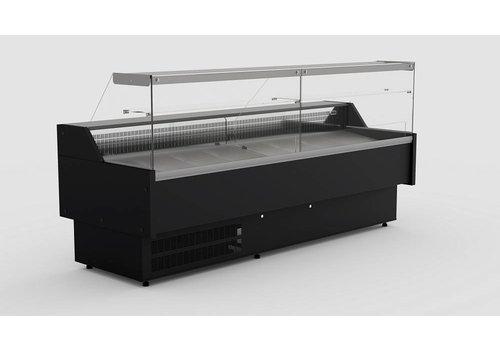Combisteel Koeltoonbank Zwart | Morris 2.5 | 249 x 106 x 131 cm