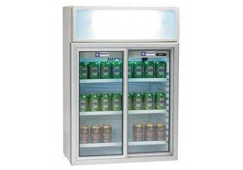 Diamond Dosen Kühlschrank | weiß | 2 Glasschiebetüren