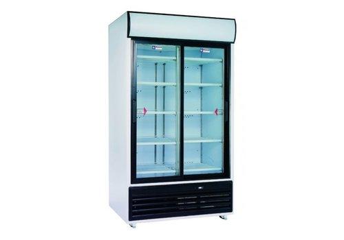 Diamond Kühlschrank anzeigen | weiß | 875 Liter Glastür