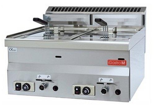 Gastro-M Gas Friteuse 2 x 8 Liter | Erdgas-Version